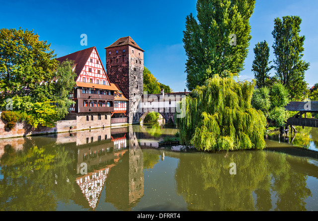 Executioner's bridge in Nuremberg, Germany - Stock-Bilder