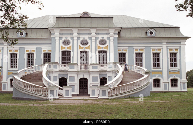 The patrimony of Russian poet and diplomat A S Griboedov at the Khmelita museum in the Smolensk Region The central - Stock Image