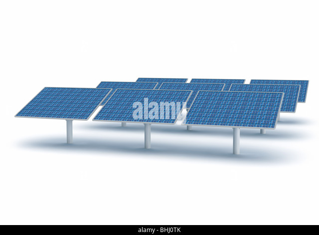Solar Collector Panel, Energy - Solarpanels Sonnenkollektoren Solarenergie - Stock Image