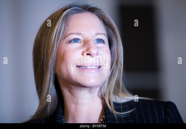 Singer and actress Barbra Streisand - Stock-Bilder