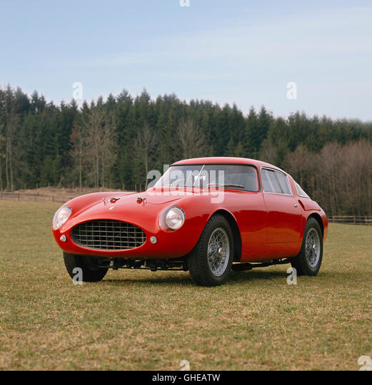 1953 Ferrari 250 Mille Miglia Pininfarina 2 seat Berlinetta 3 0 litre V12 SOHC engine developing 240bhp Country - Stock Image