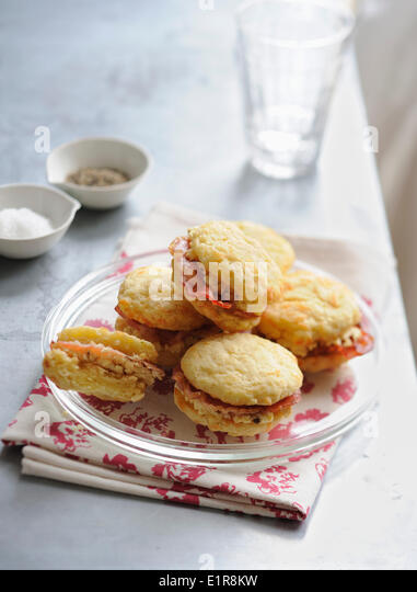 Bacon whoopies - Stock Image