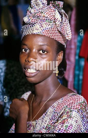 8076. Girl, The Gambia, West Africa - Stock-Bilder