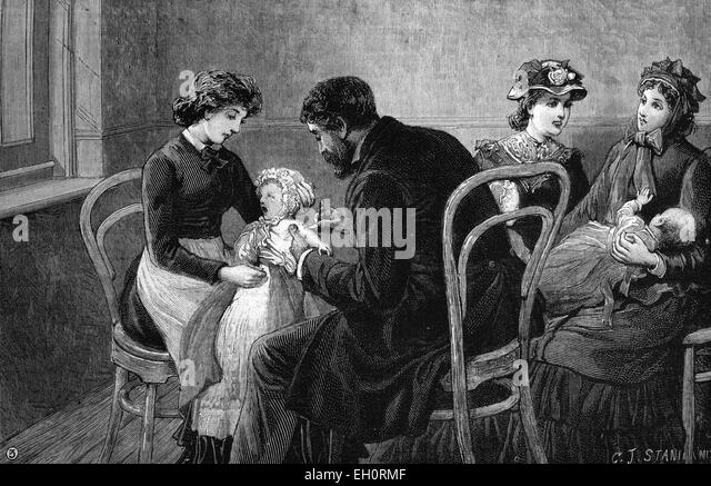 Vaccination, historic image, 1883 - Stock Image