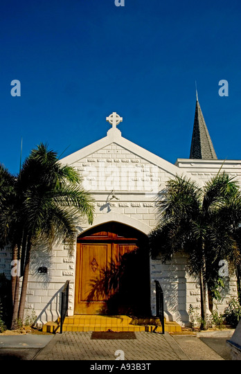 George town Cayman Grand Cayman Elmslie Memorial Church histoic landmark building - Stock Image