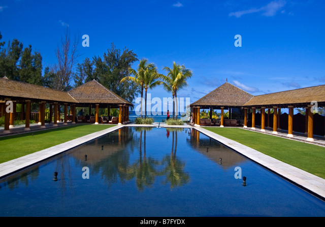 Resort Moevenpick south coast of Mauritius Africa - Stock Image