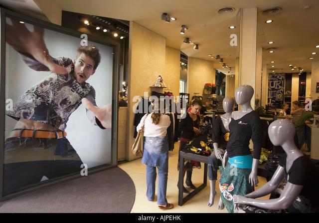 spain Barcelona Passeig de Gracia Desigual fashion store - Stock Image