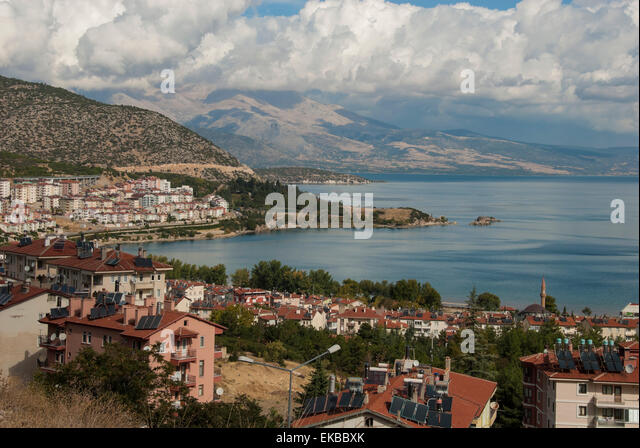 Lake Egirdir, Isparta, western Turkey, Anatolia, Turkey, Asia Minor, Eurasia - Stock Image