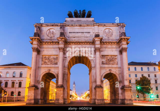 Germany, Bavaria, Munich, Victory Gate - Stock Image