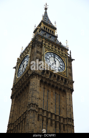 Big Ben clock tower, London, England - Stock Image