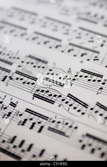 Musical score, close-up - Stock-Bilder