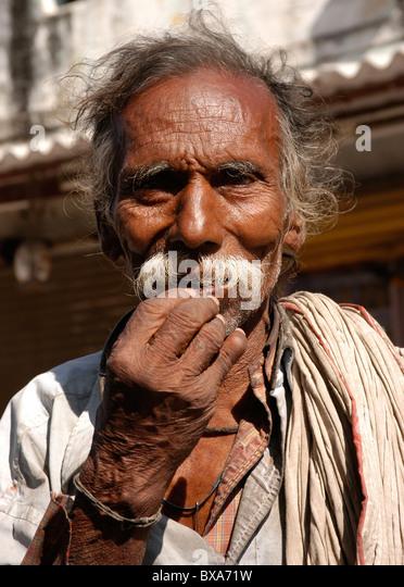 Old man begging