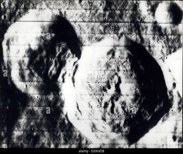 Oct. 14, 1966 - Hidden Side Of The Moon: A high resolution photograph made by the National Arenautics and space - Stock-Bilder