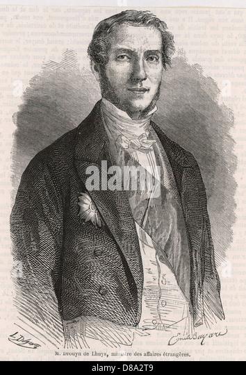 Edouard Drouhyn De Lhuys - Stock Image