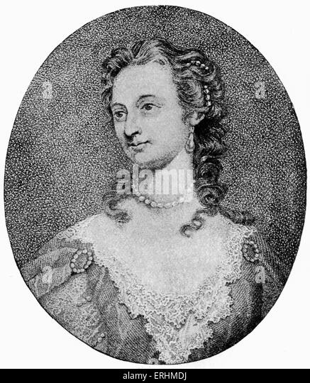 Lady Mary Wortley Montagu - English aristocrat and writer:  26 May 1689 - 21 August 1762.  After the portrait by - Stock Image
