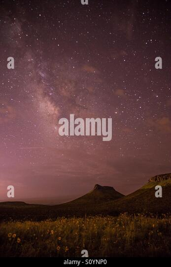 Stars in the New Mexico sky - Stock Image
