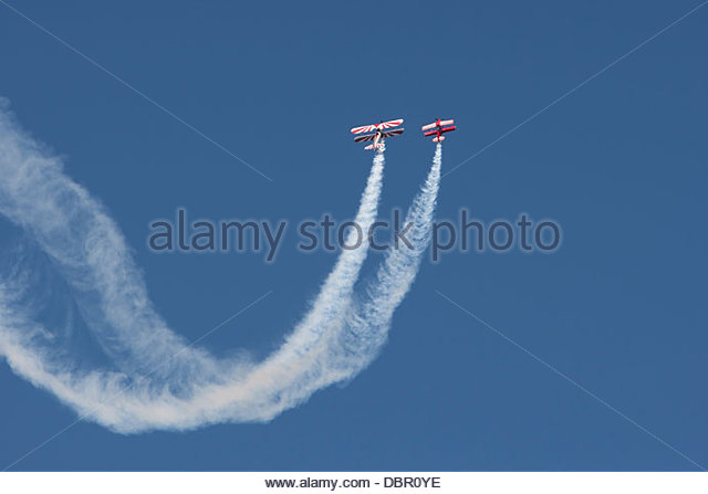 Stearman; Christen Eagle ll Flying - Stock-Bilder