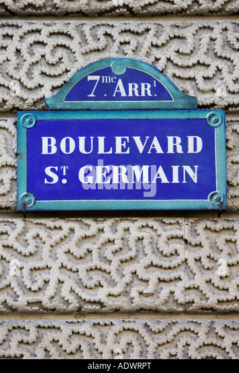 Street signs france stock photos street signs france for 34 boulevard saint germain paris