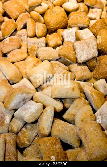 Heap of soft rolls - Stock Image
