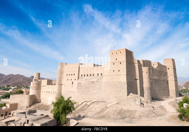 Exterior view of Bahla Fort in Oman a UNESCO World heritage Site - Stock Image
