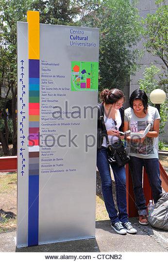 Mexico Mexico City DF D.F. Ciudad de México Federal District Distrito Federal Ciudad Universitaria UNAM Hispanic - Stock Image
