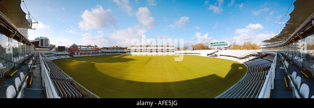 Panoramic view of Lords Cricket Ground. - Stock Image