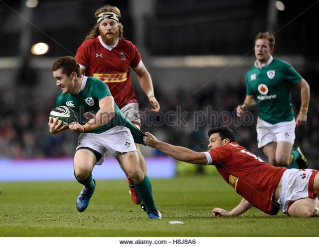 Rugby Union - Ireland v Canada - 2016 Guinness Series - Aviva Stadium, Dublin, Republic of Ireland - 12/11/16 Ireland's - Stock-Bilder