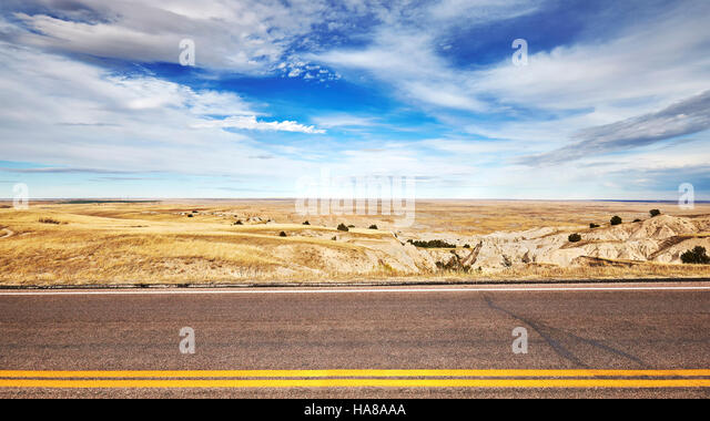 Photo of an empty road, travel concept background, USA. - Stock-Bilder