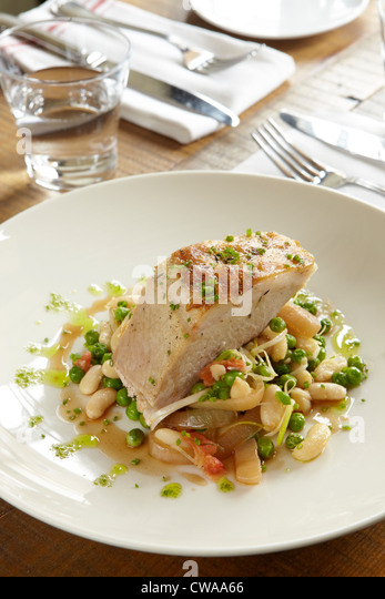 Pork and vegetables - Stock Image