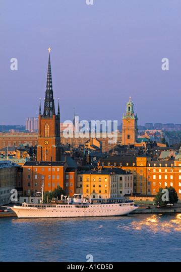 Riddarholmen & Gamla Stan, Stockholm, Sweden - Stock Image