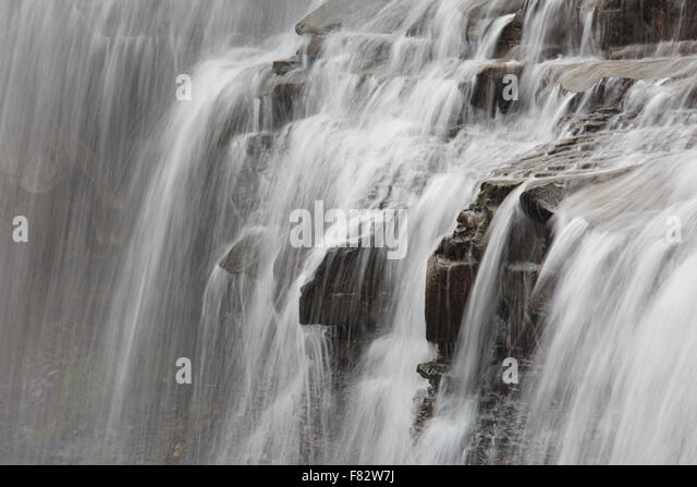 Details of Brandywine Falls, Cuyahoga Valley National Park, Ohio - Stock Image