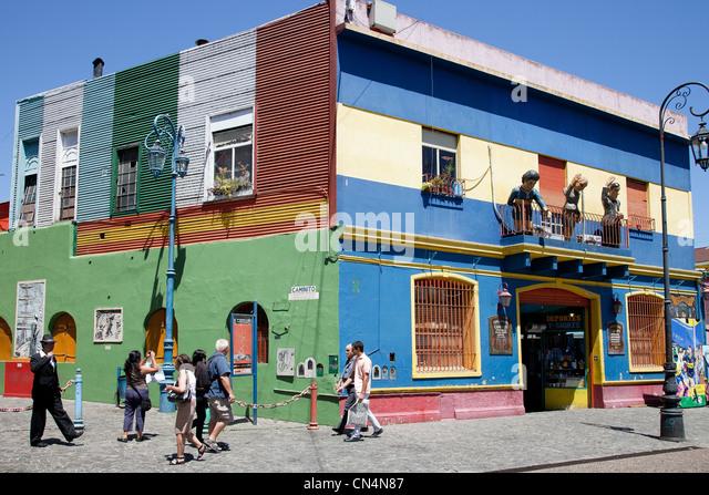 Argentina, Buenos Aires, La Boca district, Caminito - Stock Image