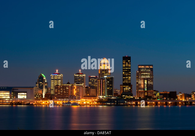 night skyline view of - photo #41