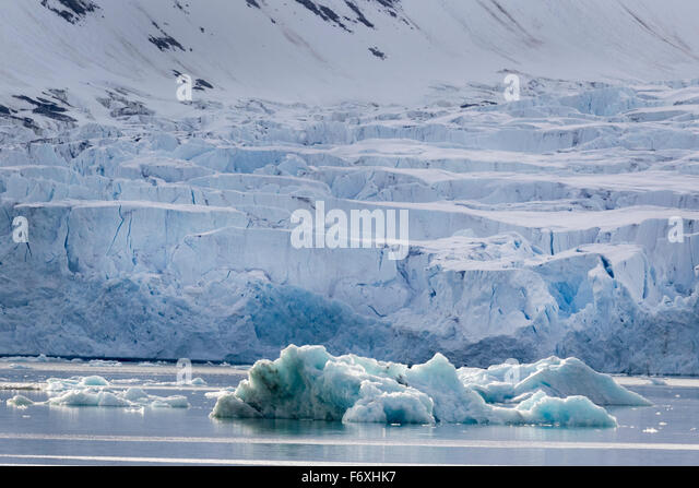 Magdalenenfjord, view over the glacial arms, Svalbard, Spitzbergen, Norway, Europe - Stock-Bilder
