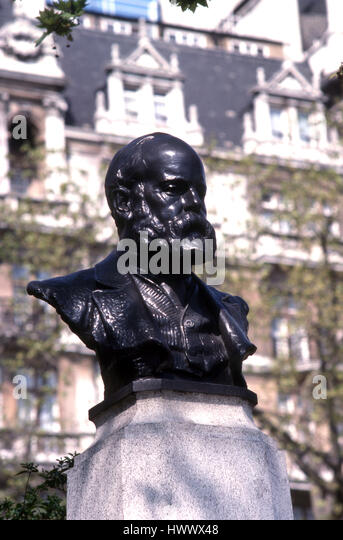 bust of Samuel Plimsoll - Stock Image