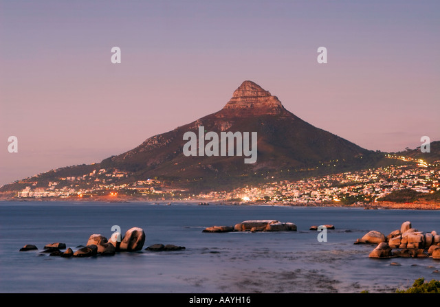 south africa near cape town Camps Bay Lions Head - Stock Image