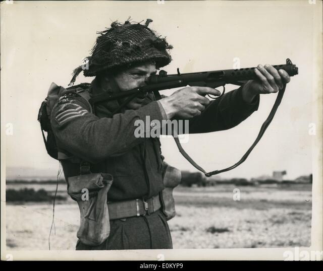 Feb. 02, 1953 - New Style Weapons At The Small Arms School - Hythe.. Celebrating Centenary.. Many new and old style - Stock Image