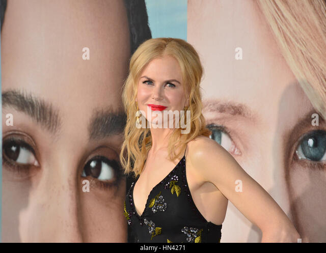 Los Angeles, USA. 07th Feb, 2017. Actress Nicole Kidman at the premiere for HBO's 'Big Little Lies' - Stock Image