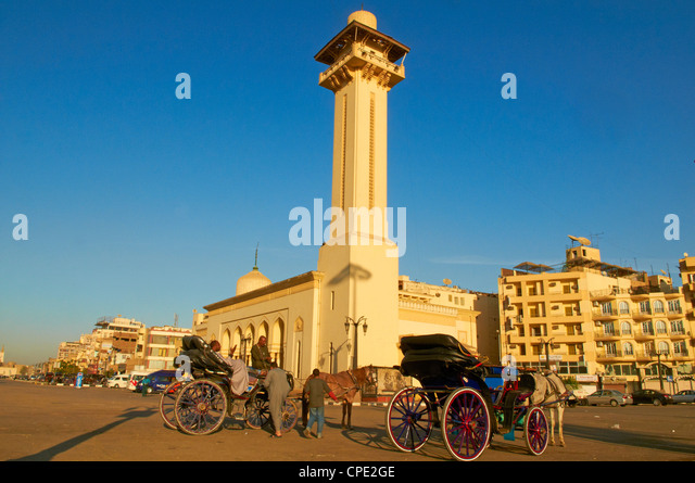 Mosque of Abu el-Haggag, Luxor, Egypt, North Africa, Africa - Stock Image