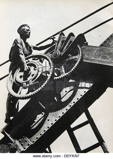 'The Worker', 1930s. - Stock Image