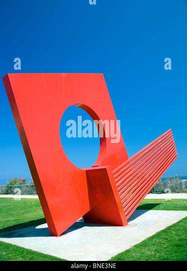 Dov Feigin's modern sculpture in Independence Park off Hayarkon Street - Tel Aviv - Stock Image
