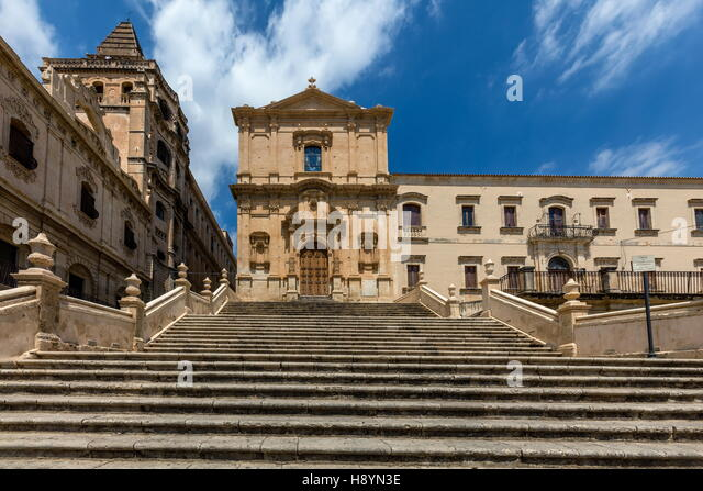 18th century Church of Saint Francis Immaculate in Noto, Sicily, Italy - Stock Image
