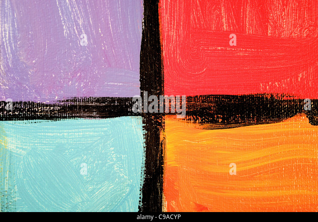 Art Paint Bold 4-up Grid - Stock Image