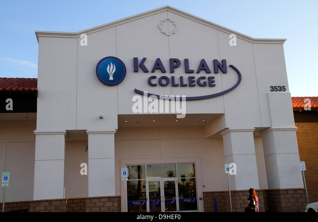 Nevada Las Vegas West Sahara Avenue Kaplan College front entrance school - Stock Image