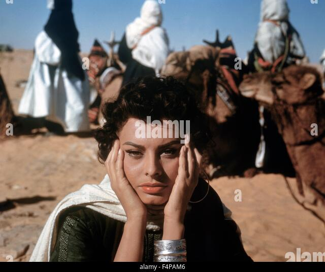 Sophia Loren / Legend of the Lost 1957 directed by Henry Hathaway - Stock Image