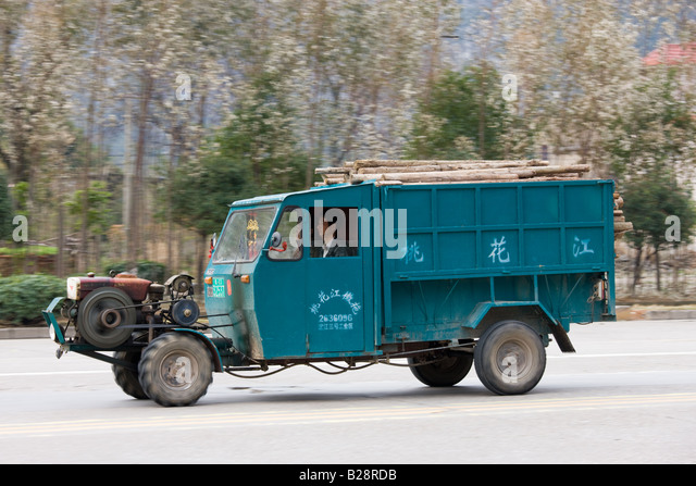 Chinese Antique Tractors : Chinese tractor stock photos