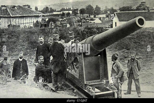 Serbian artillery in World War one - Stock Image