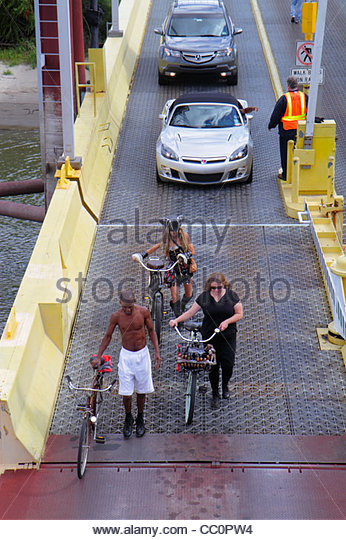 New Orleans Louisiana Mississippi River Algiers Canal Street Ferry Station Crescent City Connection Division CCCD - Stock Image