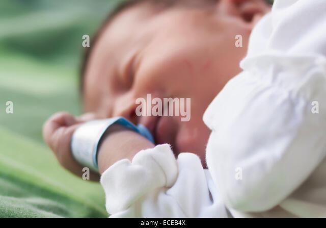 Bulgaria, Newborn baby (0-1 months) - Stock Image