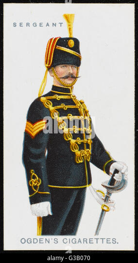 A Sergeant of the 20th  Hussars. - Stock Image